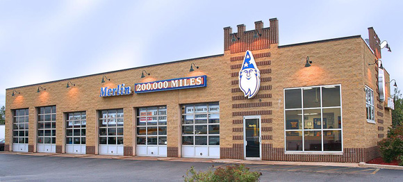 Merlin 200,000 Mile Shops Exterior